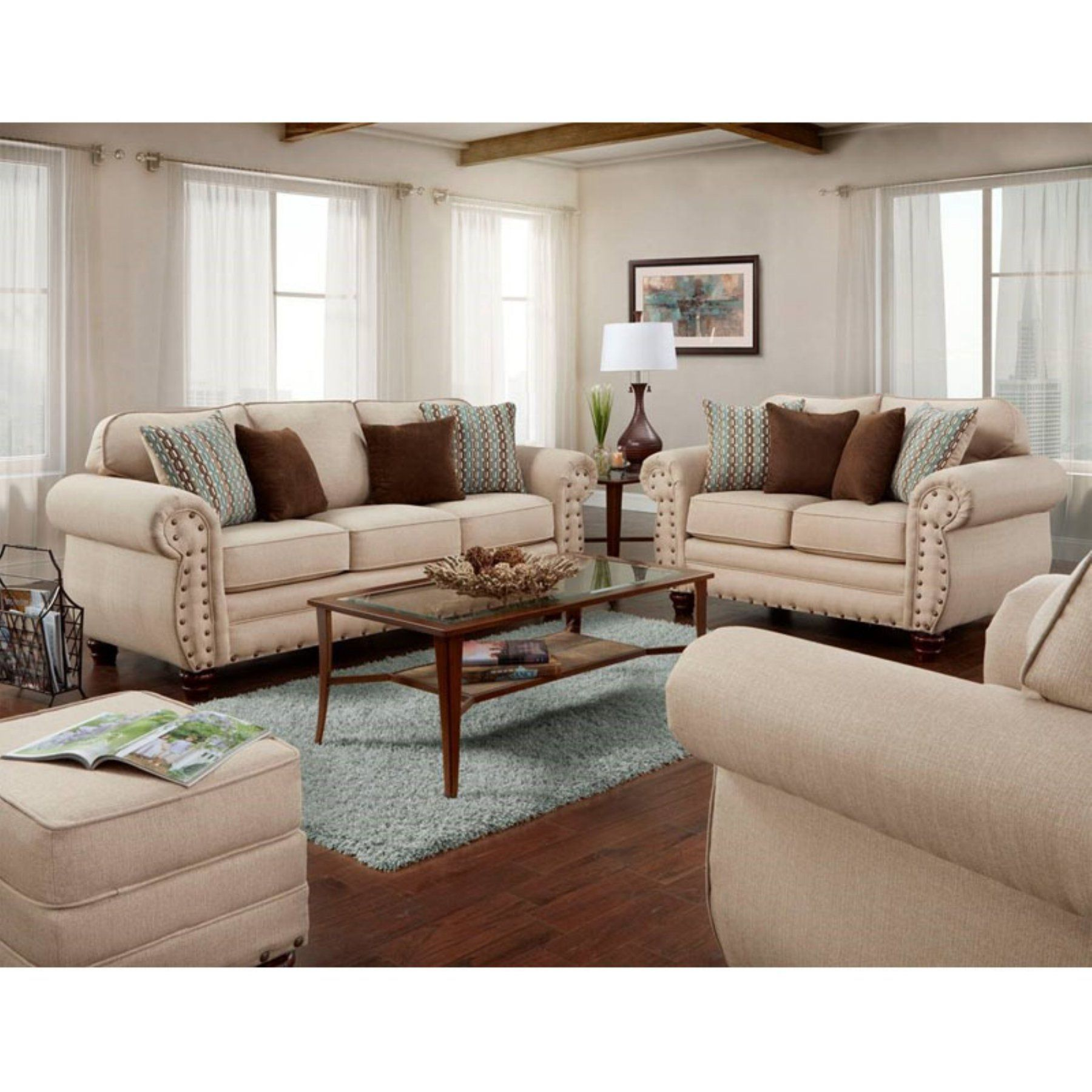 Leather Living Room Furniture Sets How To Decorate A With Fireplace In The Middle American Classics Abington Sand 4 Piece Sofa Set 2019 B9900 Abk