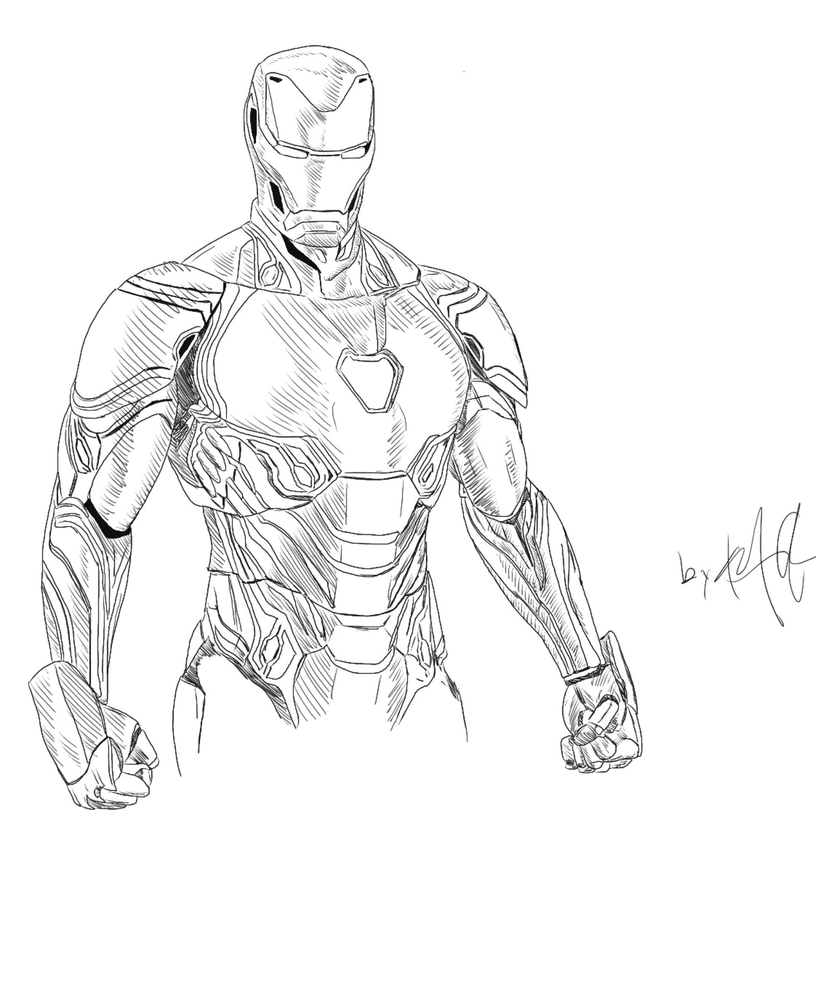 Dibujos De Iron Man Para Colorear Paginas Para Colorear