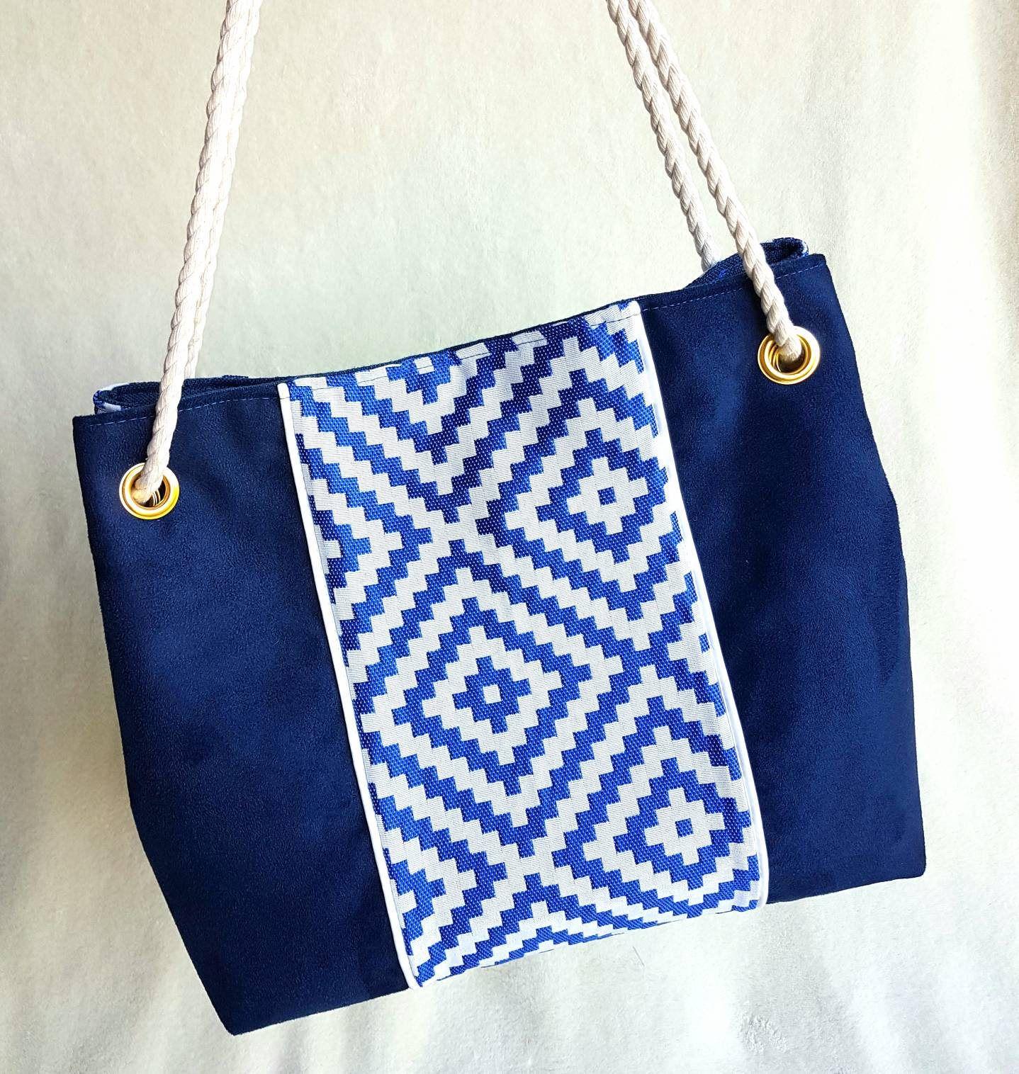 Nina Made Handmade Blue Bi And Of Handbag MaterialNavy Suede bf76gy