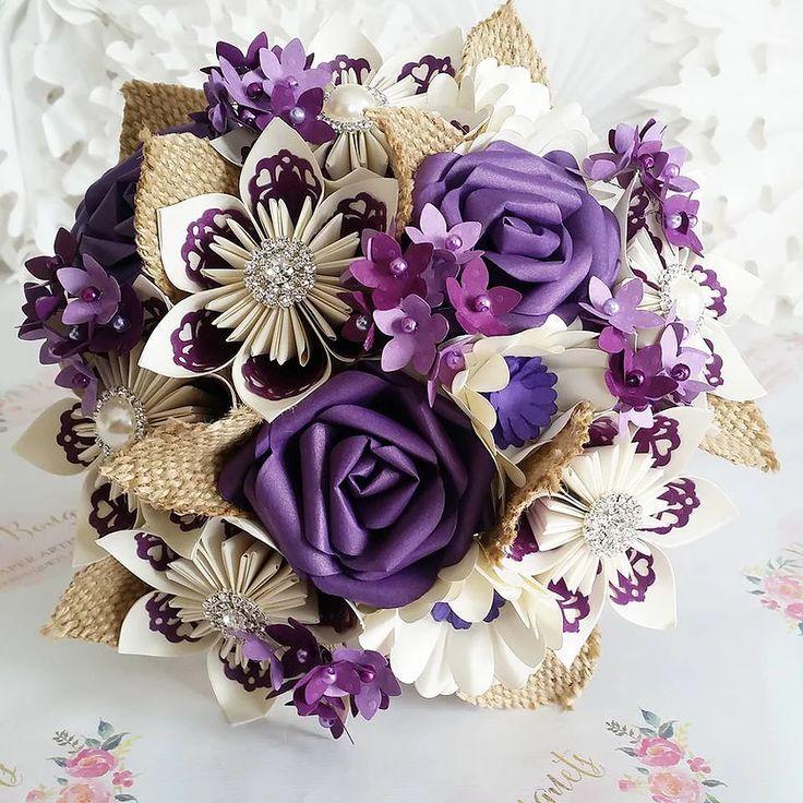 Paper Wedding Bouquet Origami Flower Bridal Alternative | Wedding ...
