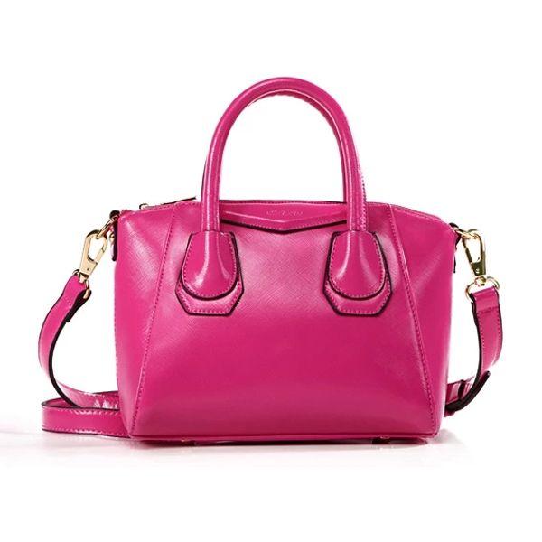 New Arrival Solid Color Smile Major PU Handbag