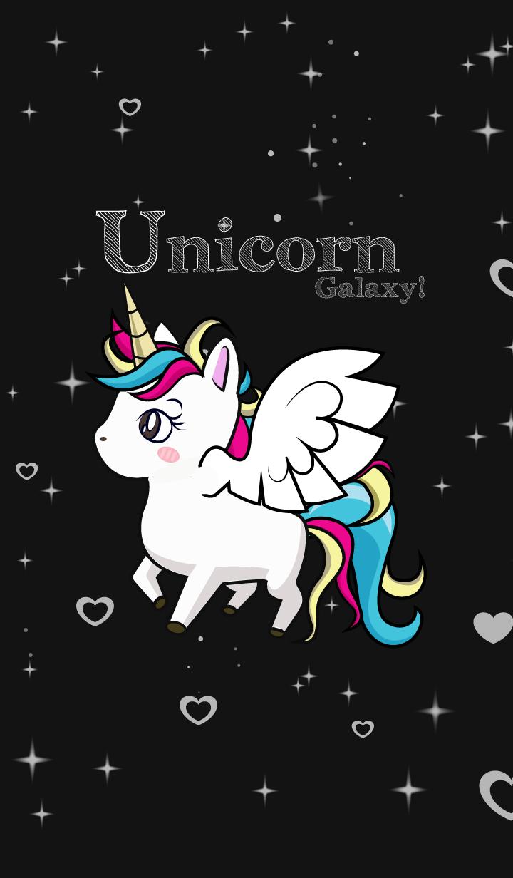 Unicorn Galaxy Love Black Gambar Unicorn Gambar Kuda Ilustrasi Karakter
