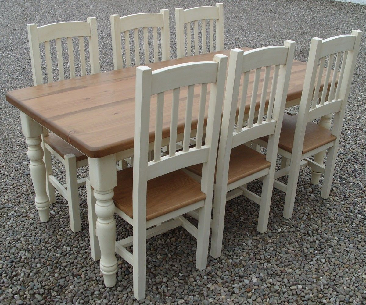 Cheshire 72  x 36  Painted Dining Table and Chairs & Cheshire 72