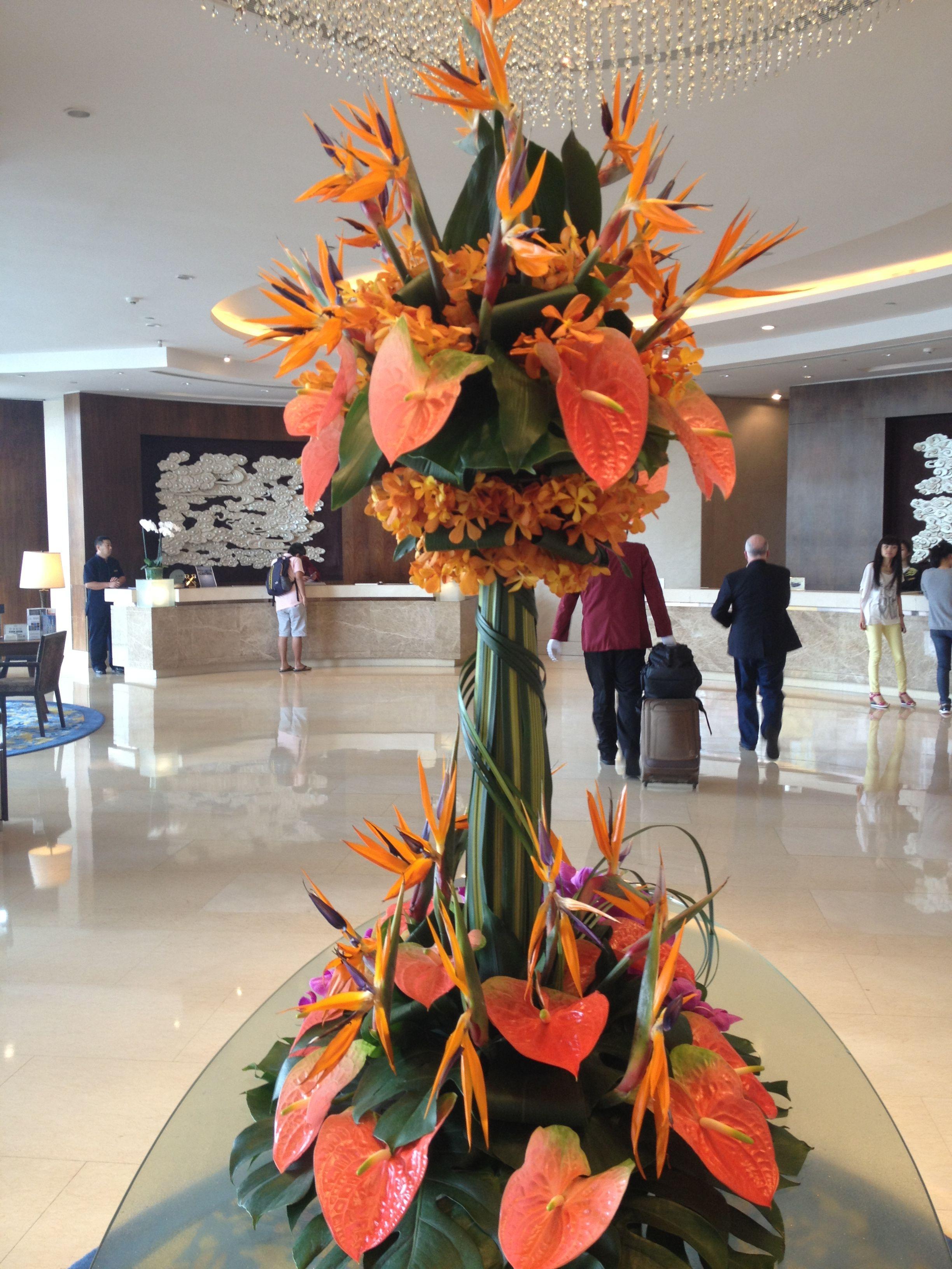 Incredible flower arrangement tropical floral