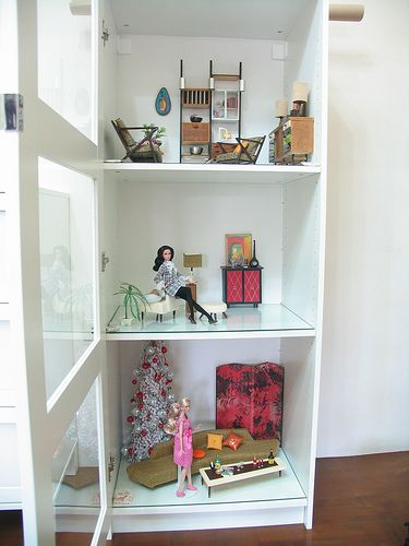 Quick Cures For Dull Doll Displays {IKEA Doll Cabinet By Thinkpinkrose On  Flickr}