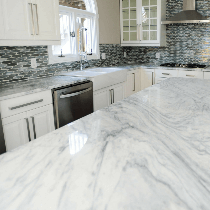 Shadow Storm Marble Kitchen Remodel