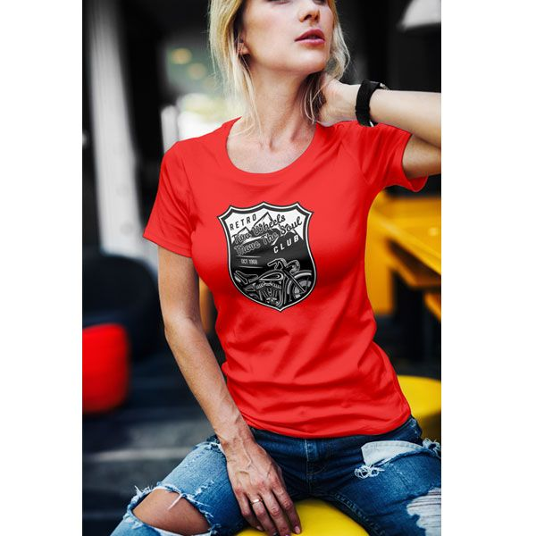 Two Wheels Move The Soul Club Classic Motorcycle T-Shirt  Womens Retro styled mo…