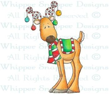 Decorated Reindeer - Christmas Images - Christmas - Rubber Stamps - Shop