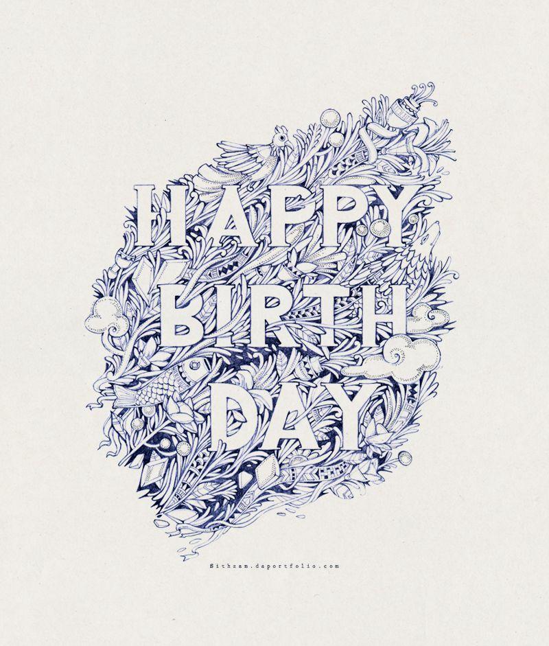 Happy Birthday by Sithzam on DeviantArt Tượng, Ý tưởng, Lịch
