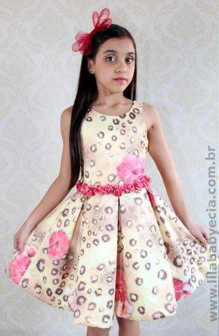 43189cf40 Vestido Infantil Diforini Moda Infanto Juvenil 010766