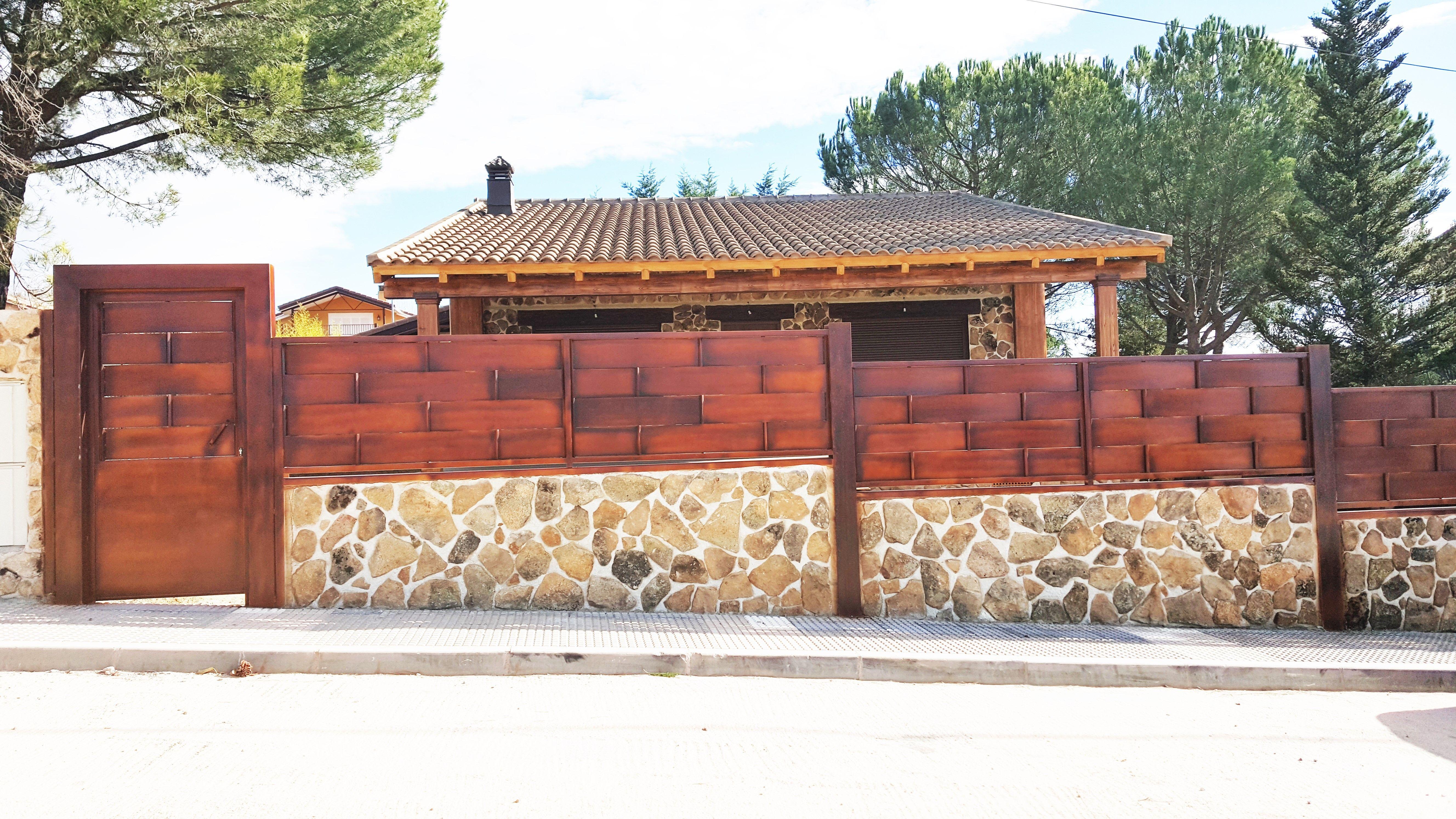Cerramiento ideal para estetica de casa de campo. CASAS DE