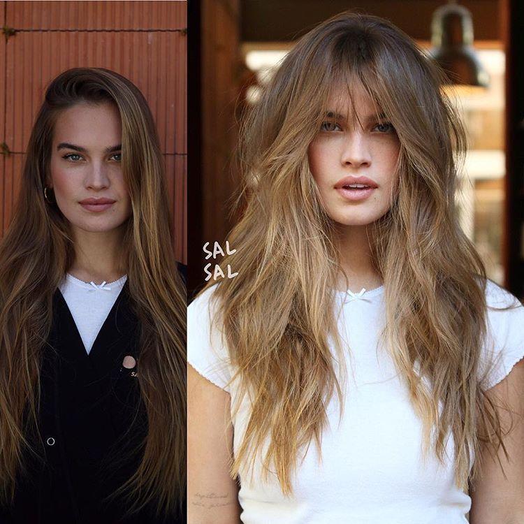 Major Transformation By Adding Babebangs Soft Internallayers To Stormibree S Long Mane We Were Inspired B Long Thin Hair Hair Styles Long Shag Hairstyles