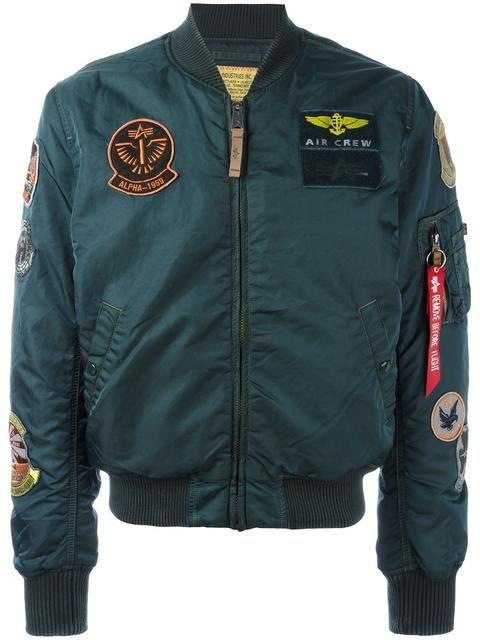 713ac686b ALPHA INDUSTRIES patches MA-1 bomber jacket. #alphaindustries #cloth ...