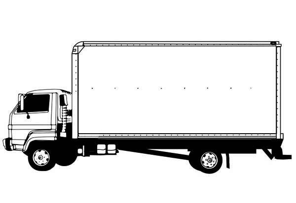 Drawing Semi Truck Coloring Page Truck Coloring Pages Semi Trucks Trucks