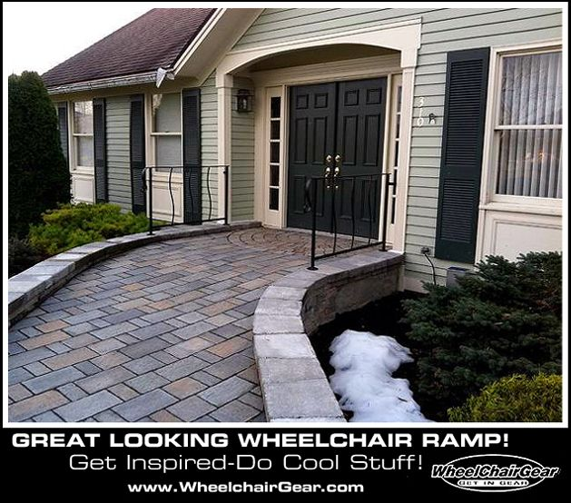 Cool wheelchair ramp get inspired and do cool stuff www for Wheelchair accessible doorways