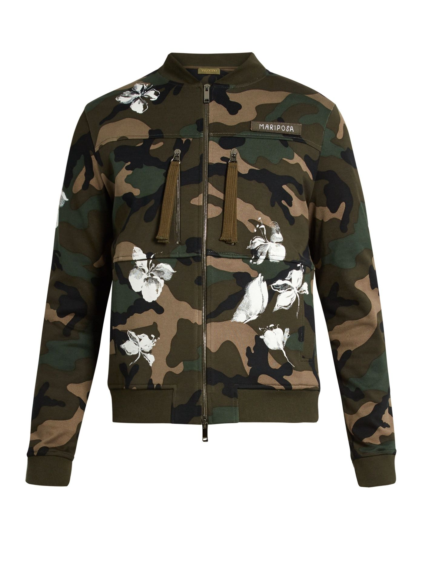 d0a5c17902040 Camouflage-print cotton bomber jacket | Valentino | MATCHESFASHION.COM
