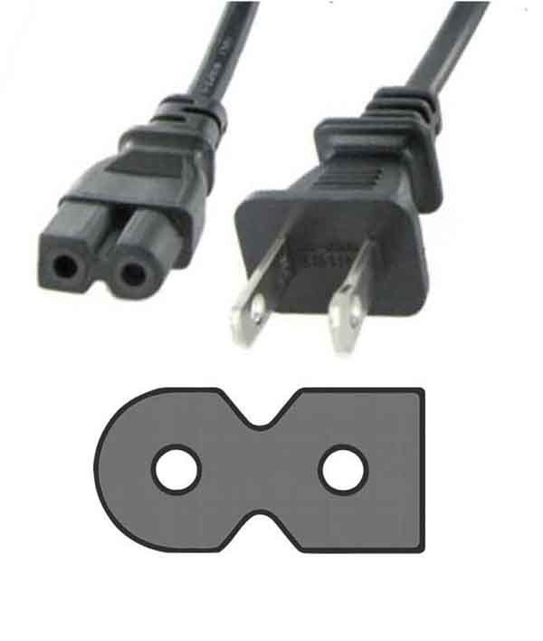 $5 95 - Power Cord Flat 2 Prong For Philips 52Pfl5603D 52Pfl5704D