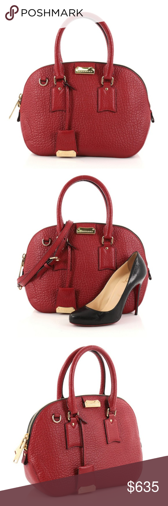 5779c387bef7 Burberry Orchard Bag Heritage Grained Leather Condition  Great. Small mark  on side