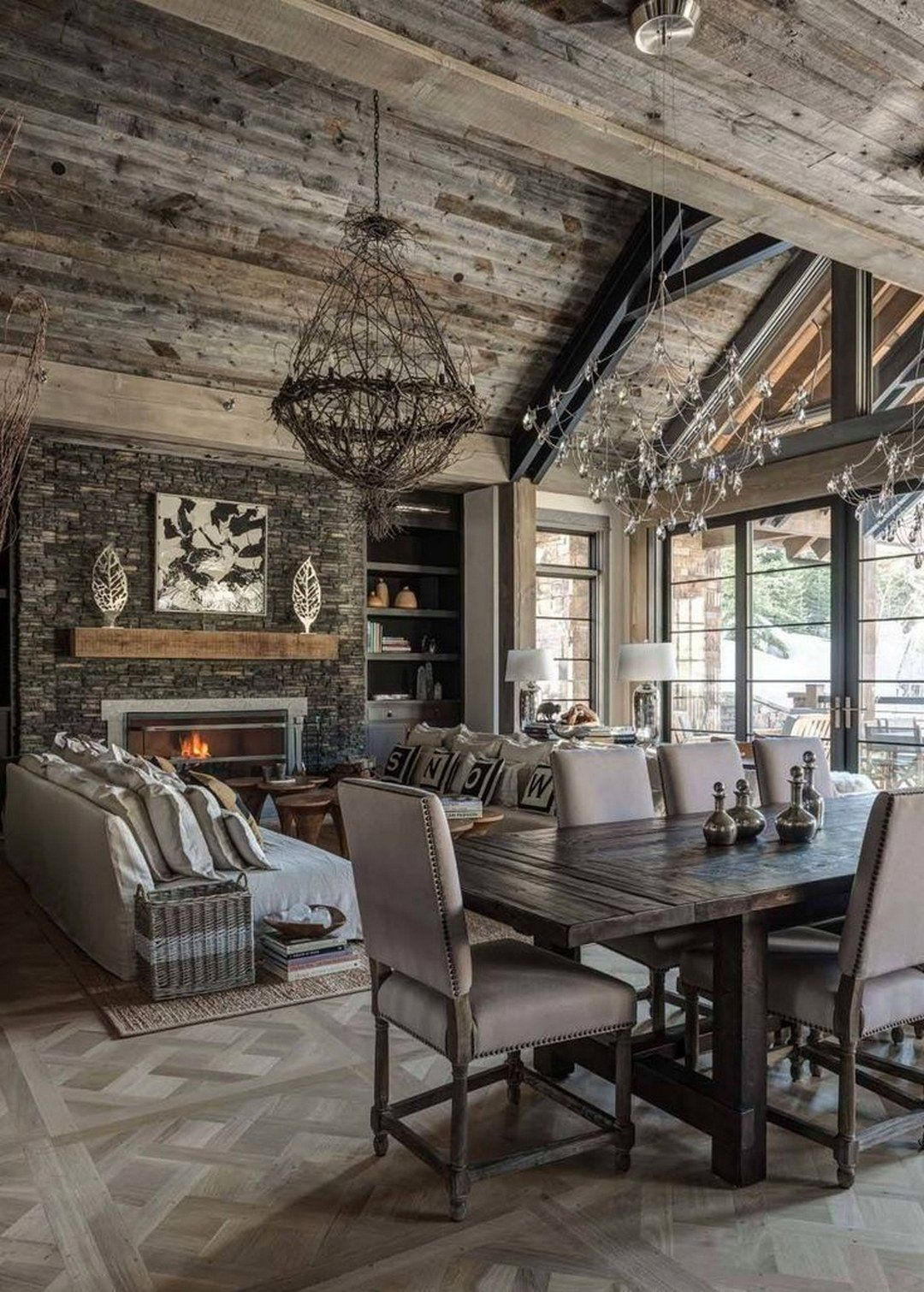 Exellent Cabin Style Interior Idea (39)
