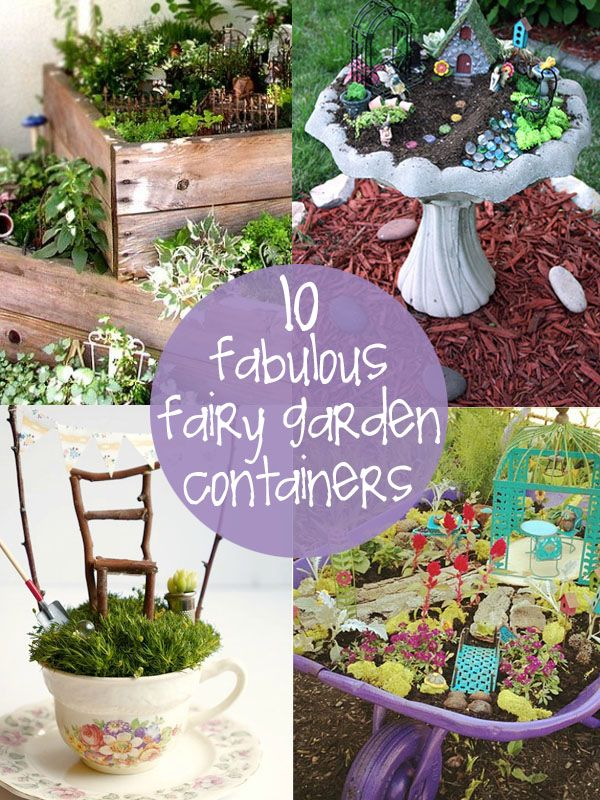 10 Unique Fairy Garden Containers Creative Gift Ideas News At Catching Fireflies