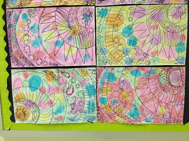 Kindergarten Abstract Art. Use w The Dot? Lesson 1, paint.  Lesson 2 dance lines, draw. Start w dot in corner of paper.