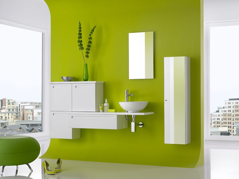 Bathroom Design Colors modern, lime green bathroom. get the look with dunn-edwards