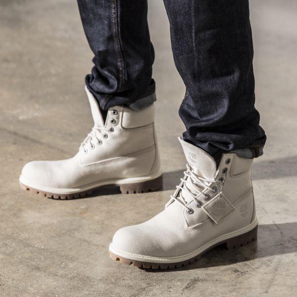 White Vegan Timberland Boots for Men