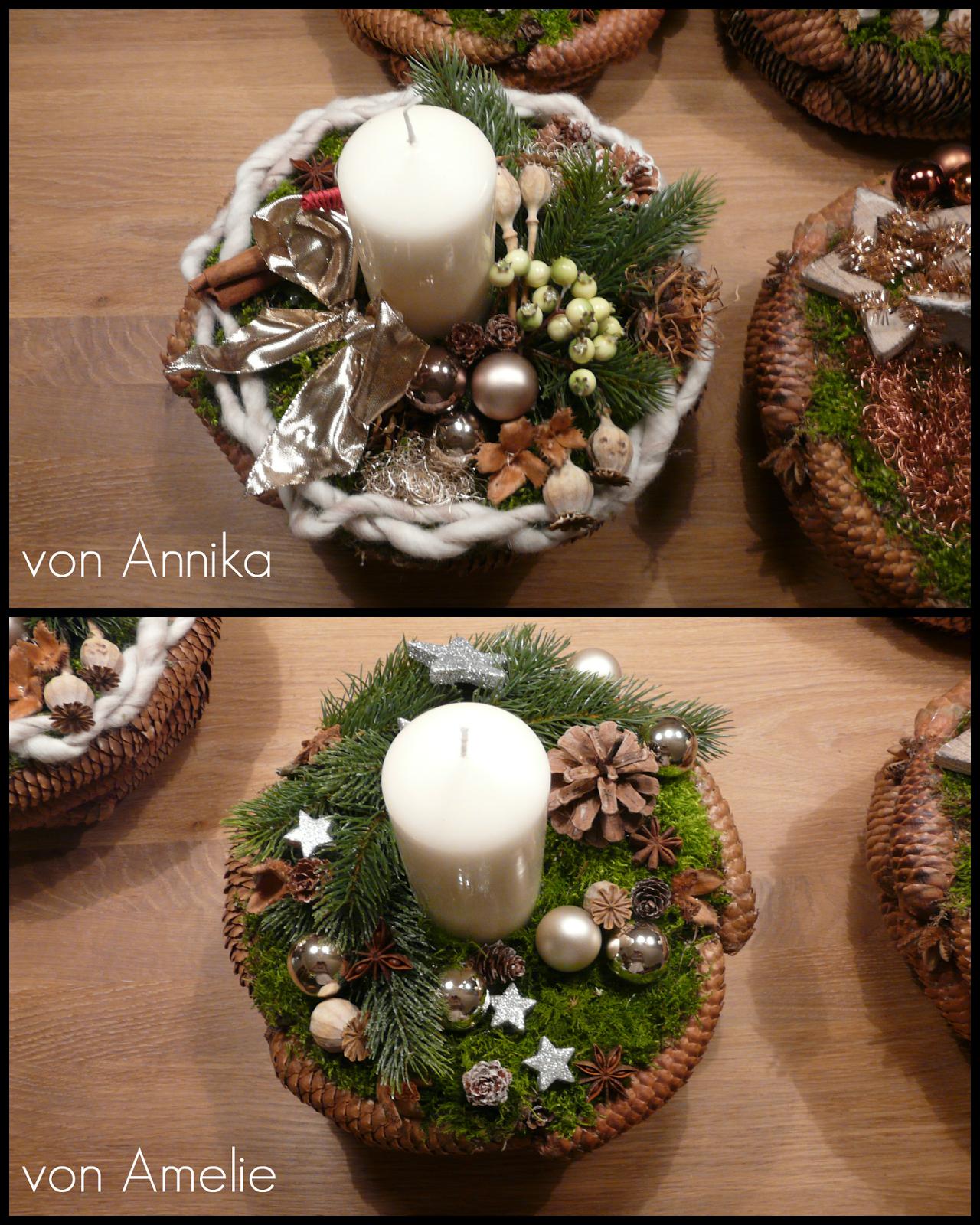 Weihnachtsgesteck Basteln Adventsgesteck Basteln Weihnachtliches