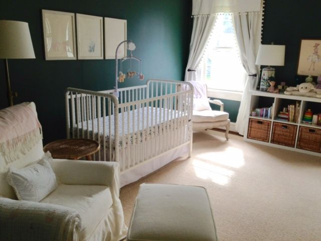 Dark Green Walls In The Nursery Can Work Heres Proof