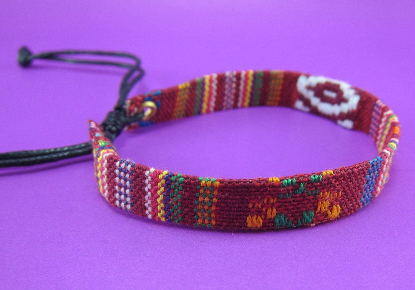 Variegated Hemp Handmade Friendship Bracelet Anklet Wristband Thai Hmong Woven Babric Brown by LuxuryFay on Etsy