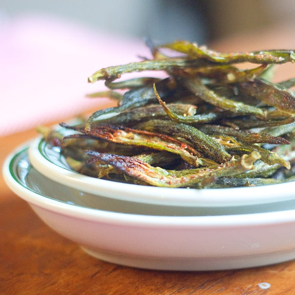 Okra Chips Recipe (With images) Okra chips, Baked okra