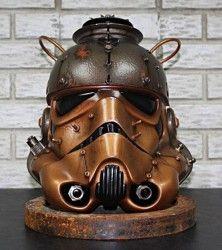Steampunk Stormtrooper helmet = Awesome!