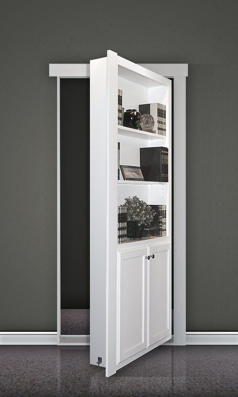 "Hidden Door Book Case Flush Mount 36"" Paint"