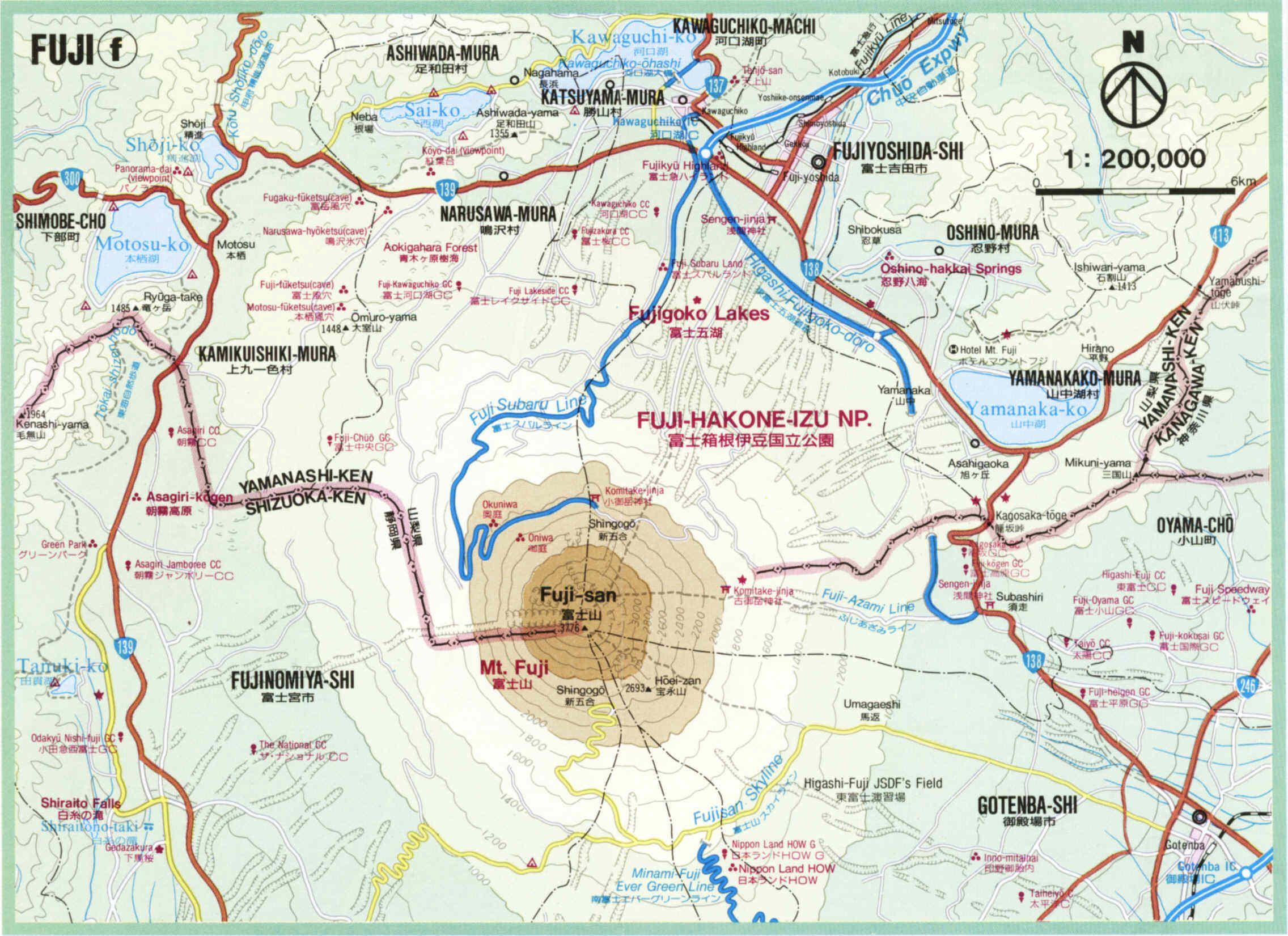Mt Fuji Japan Map Mt Fuji Area Map Fuji Opel Vectra