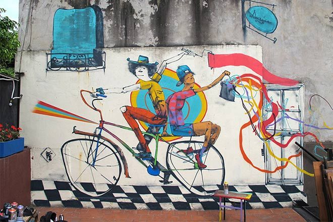 Bycicle street art