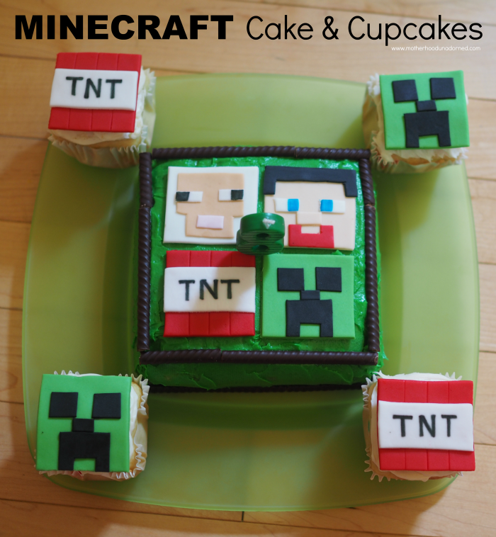 Minecraft Cake And Cupcakes Designs Decoracion tortas Pinterest