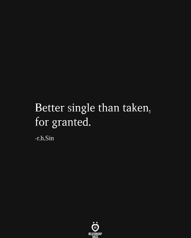 better single than taken for granted meaning in urdu