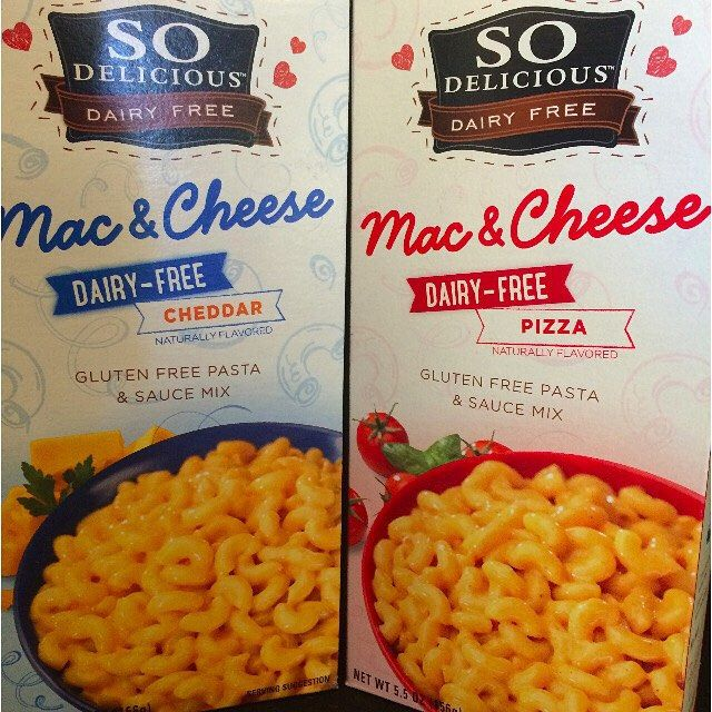 New Product Alert Look What Just Arrived From So Delicious Two Brand New Vegan Mac Vegan Grocery Dairy Free Mac And Cheese Gluten Free Dairy Free Recipes