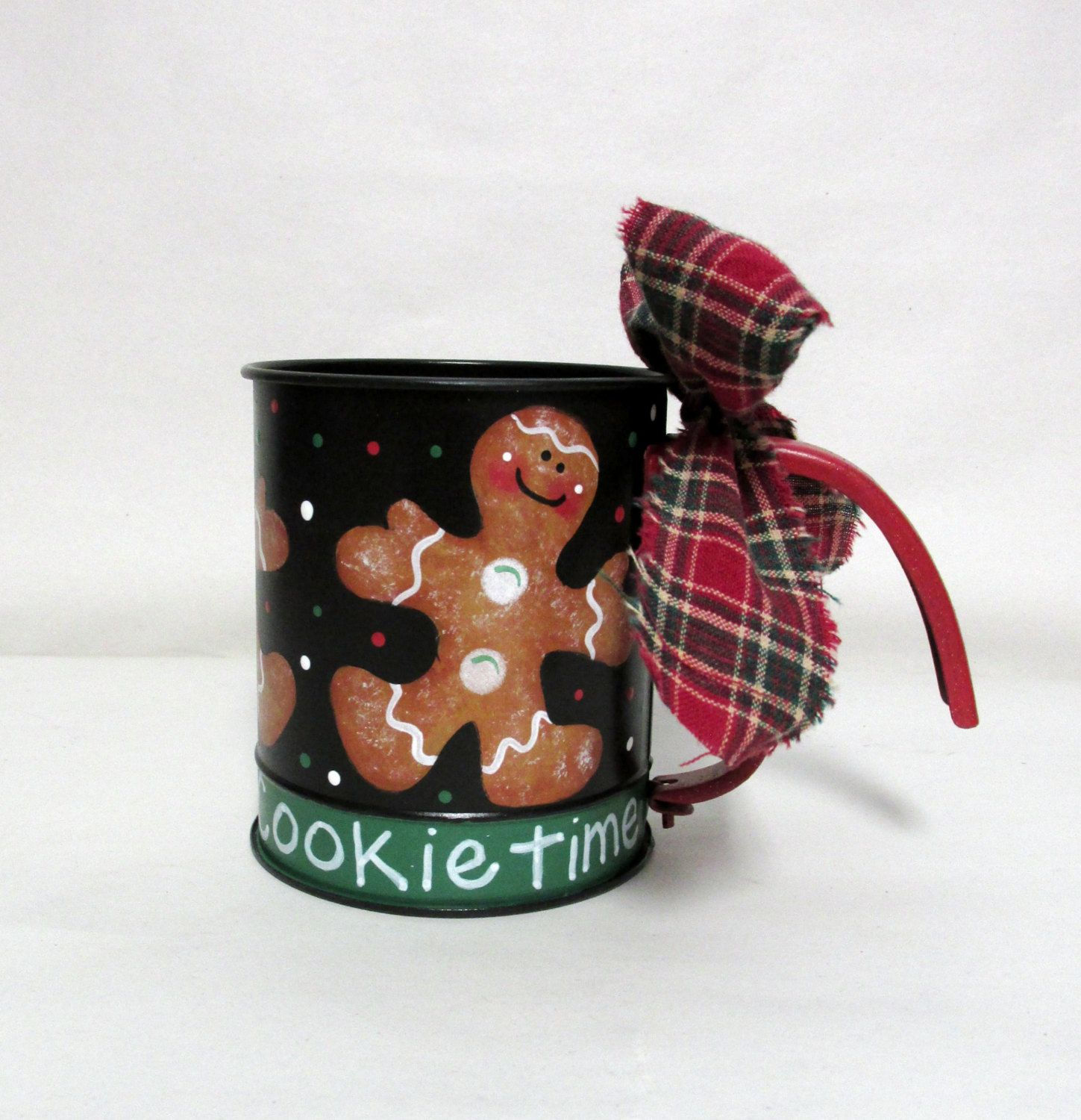Vintage Hand Sifter with Ginger Bread Cookies, Cookie Time