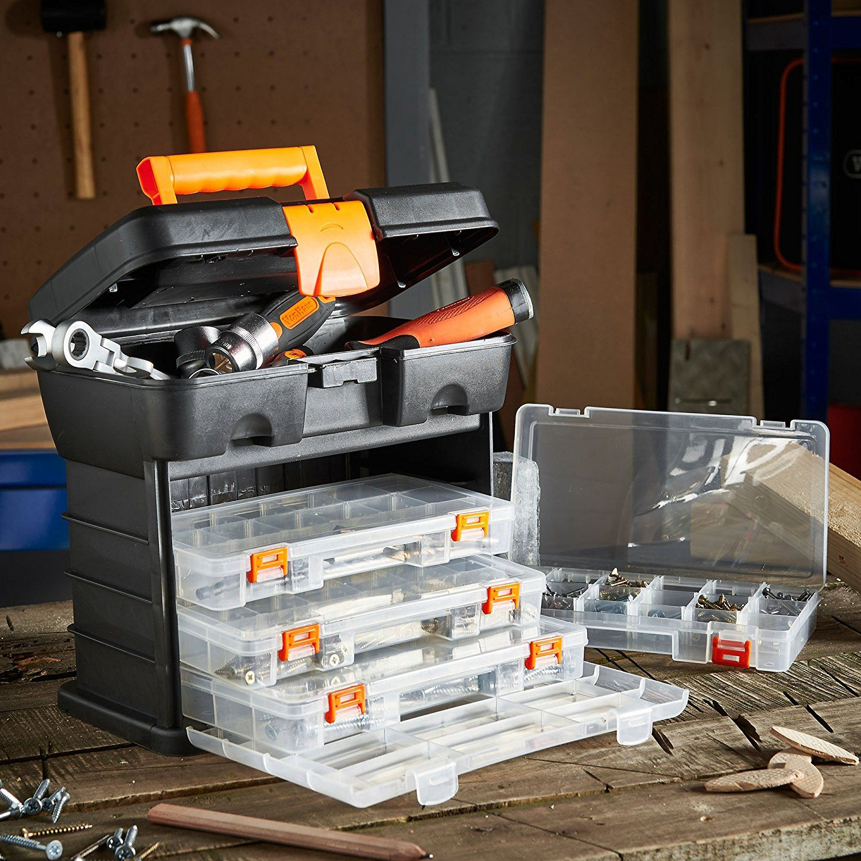 vonhaus very small utility tool storage box portable arts crafts
