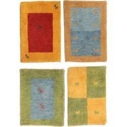 Gabbeh Persisch Paket aus 4 Teppich 40x60 Perserteppich