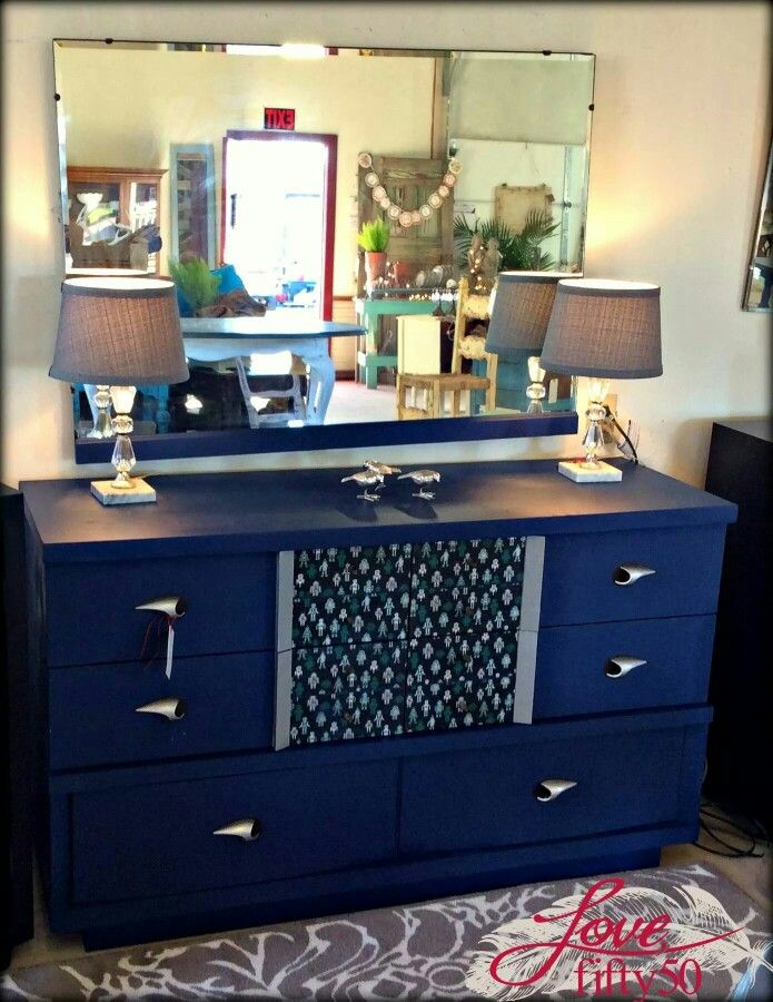 diy metallic furniture. Pure Earth Paint Sapphire With Silver Accents. #furniture #DIY #paint #nontoxic Diy Metallic Furniture I