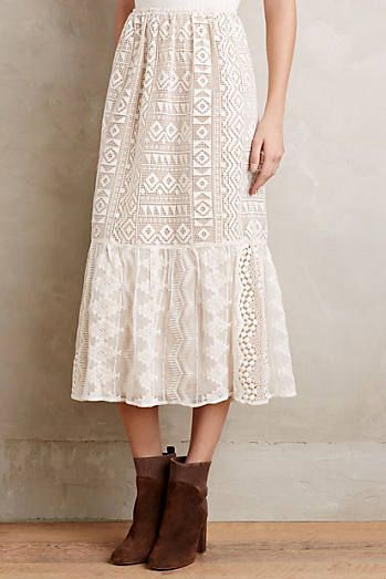 Snowlace Midi Skirt