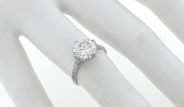 antique style 2.30ct diamond engagement ring photo 2