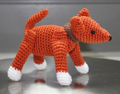 Minihondje Haken Draadenpapier Patroon Uit Boek Haken Hond