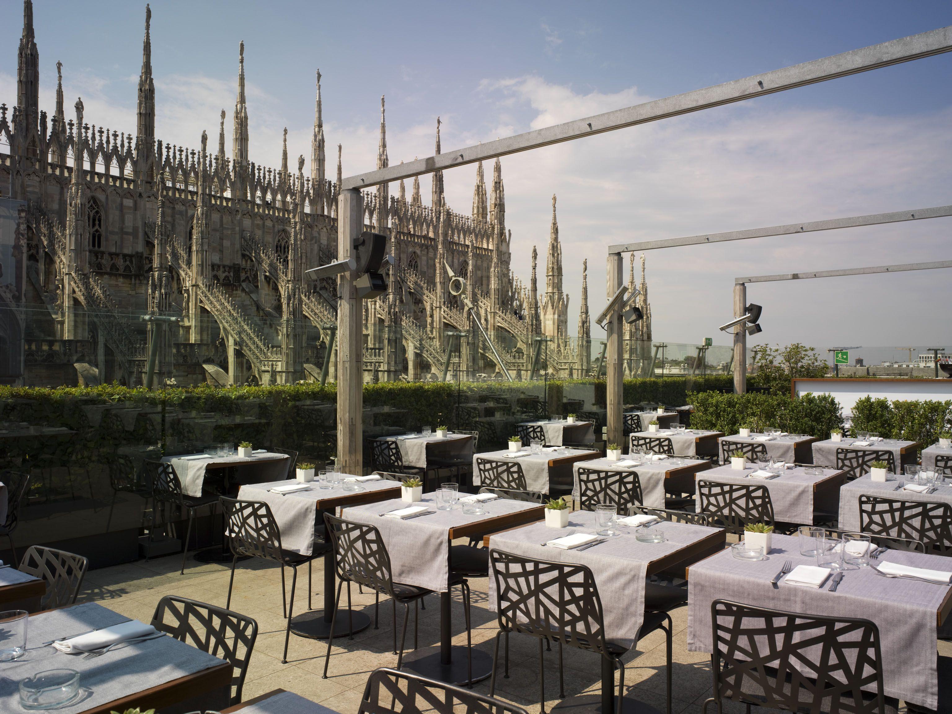 Milan Obika Mozzarella Bar Rooftop Bar Milan Rooftop