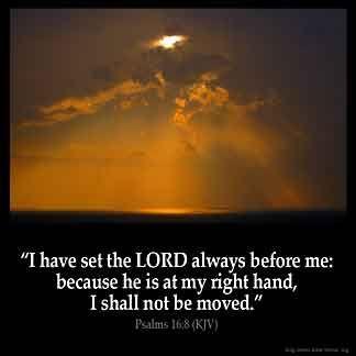 Imagem inspirada para Salmos 16: 8