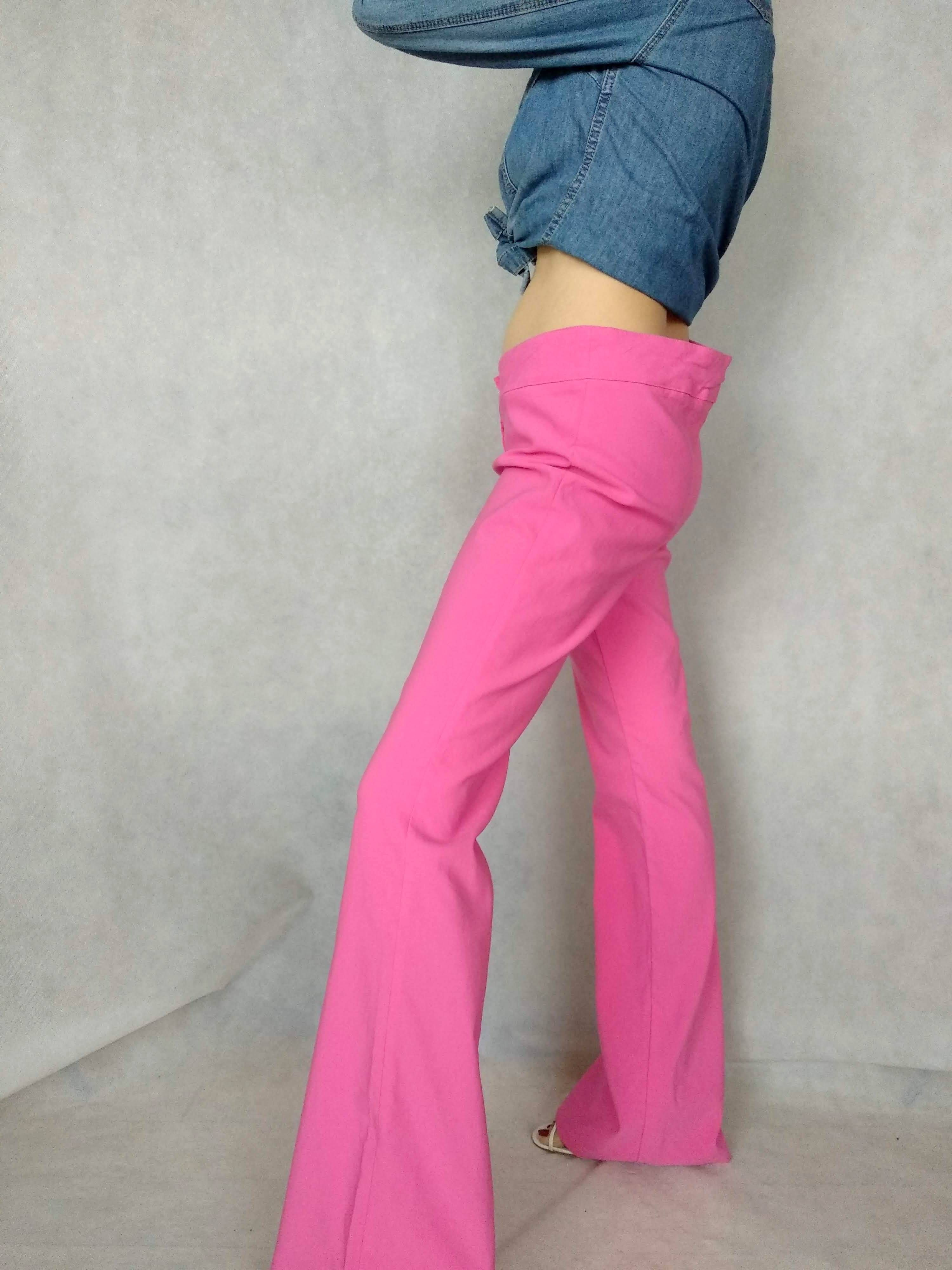Vintage 90/'s Pink Low Waisted Trousers