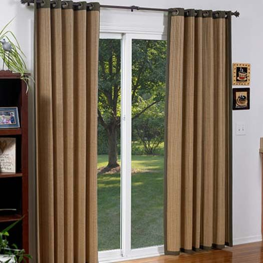 Window coverings for glass front doors glass doors for Sliding glass doors curtains