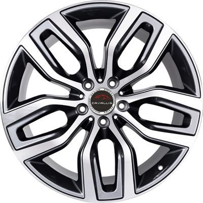 20 Inch 22 Inch 5 Holes Black Painted Machined Replica Run Flat Compatible Staggered Tpms Compatible Alloy Wheel Alloy Wheel Rim Wheel